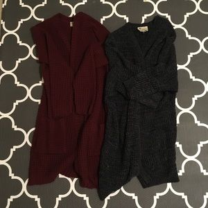 Two chunky knit cardigans